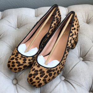 Like new J.Crew leopard print shoes